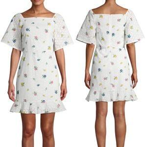 Prospect the Label Eyelet Floral Mini Dress